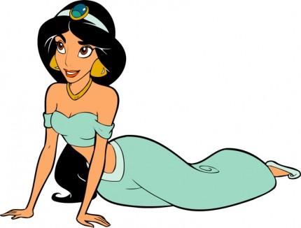 Jasmine, du dessin animé aladdin. c'est l'une des premières