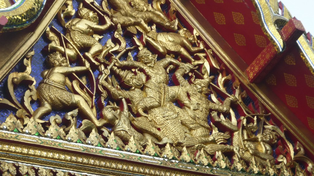 détails du temple de wat pho