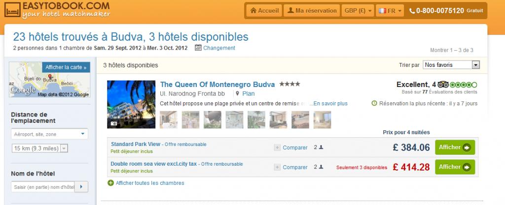 R servation d 39 h tels en ligne for Site hotel en ligne