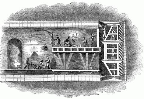 brunnel tunnel en travaux