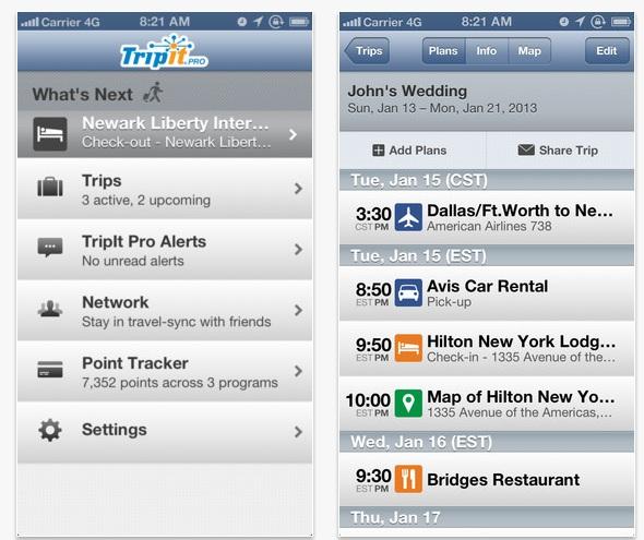 Trip It App de Voyage Pratique