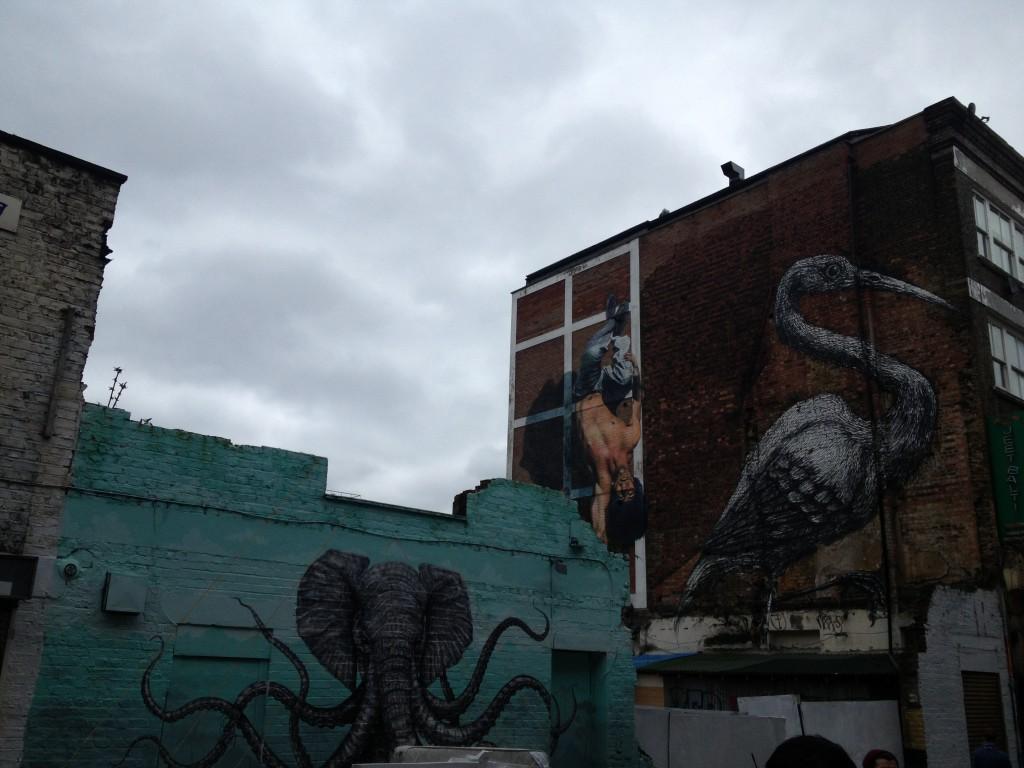 street art dans les rues de Shoreditch à Londres