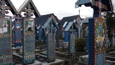Vue du cimetière de Sapanta