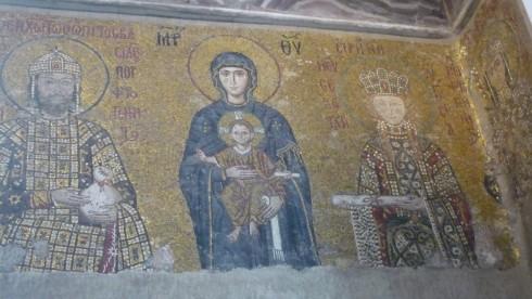 icône de la vierge Marie à Sainte Sophie