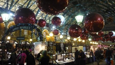 Décorations de Noël à Covent Garden