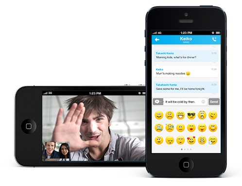 Skype Application de Voyage