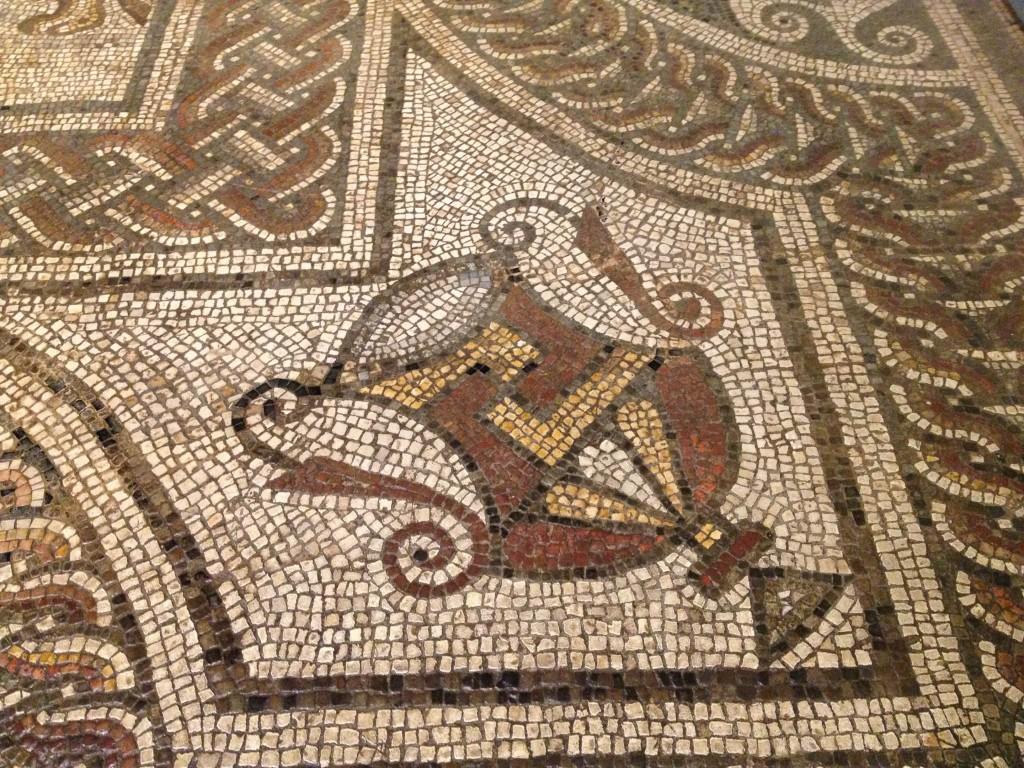 details de mosaique romaine angleterre