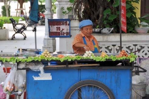 vendeuse de rue à Bangkok