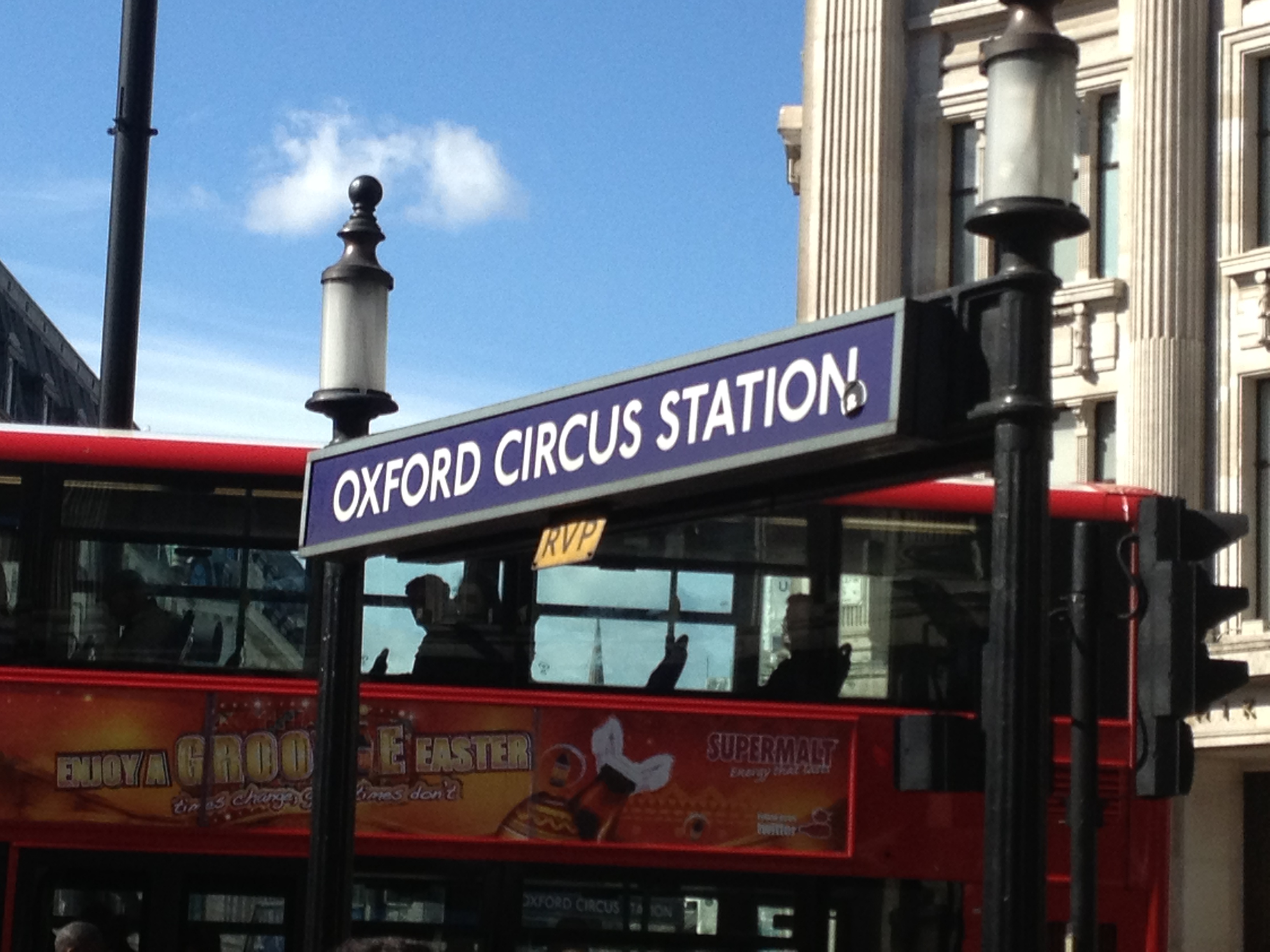 La rue des commerces: Oxford Circus