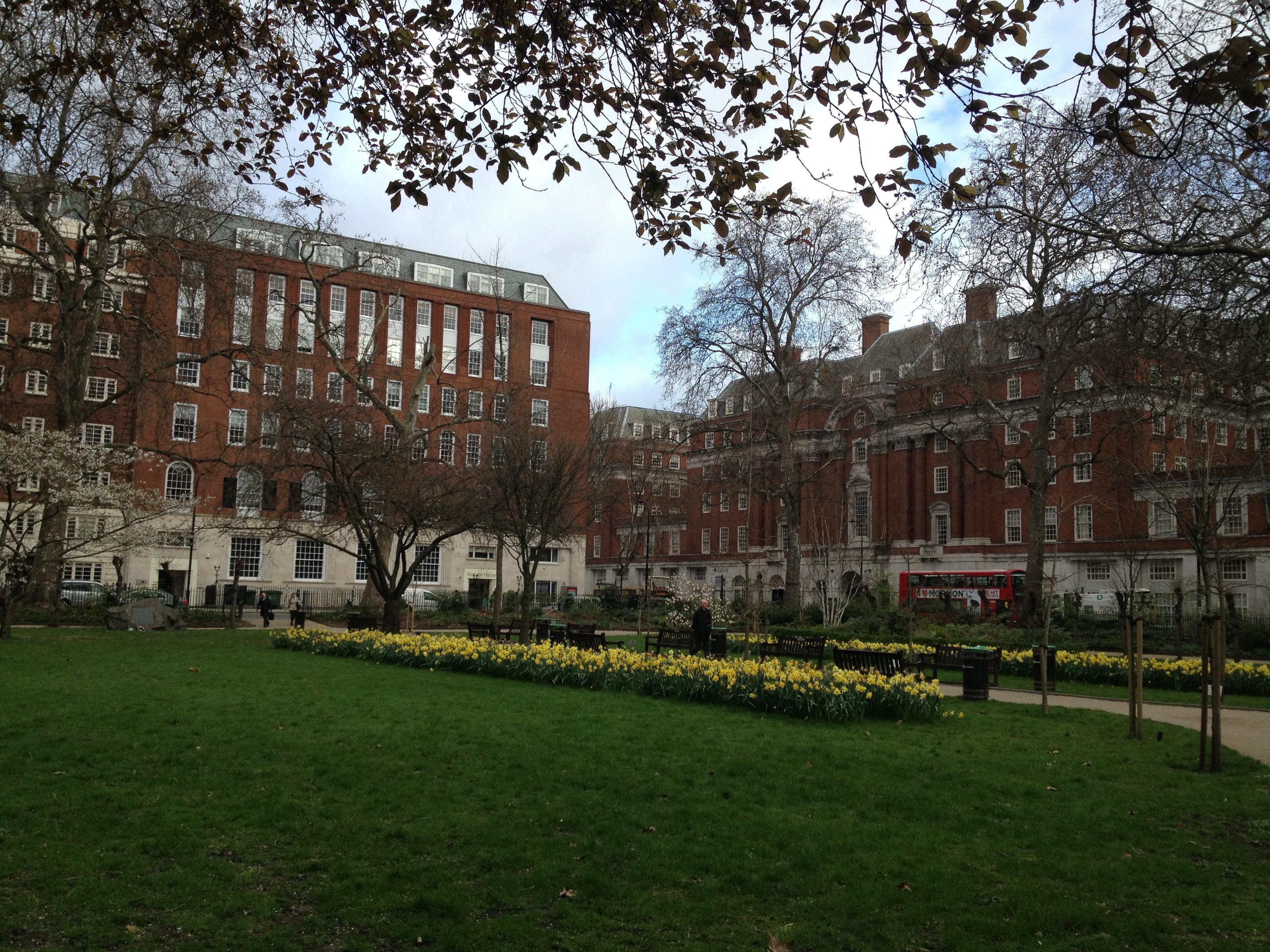 les squares de Euston à Londres